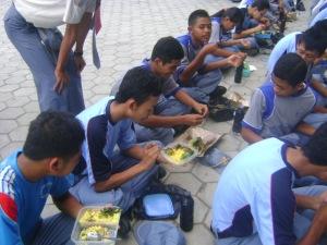 Makan bareng acara LDK